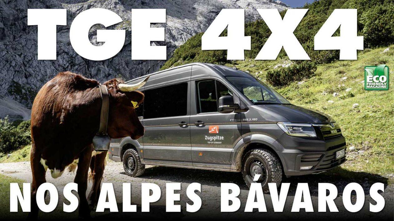 MAN TGE 4x4 nos alpes bávaros — Bayerische Zugspitze Bergbahn AG
